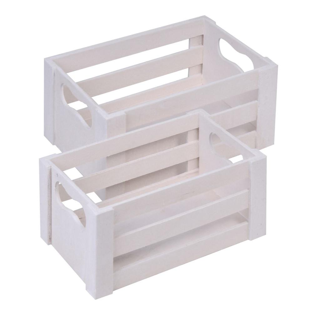 Cutie Alba din lemn
